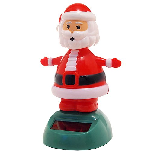 Solar Bobblehead Toy Figure - Dancing Santa (Bobble Santa Head)