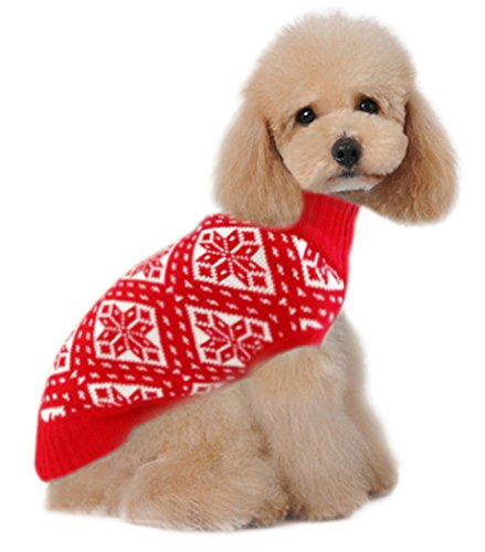 (Holiday Christmas Reindeer Vintage Classic Dog Sweater (10