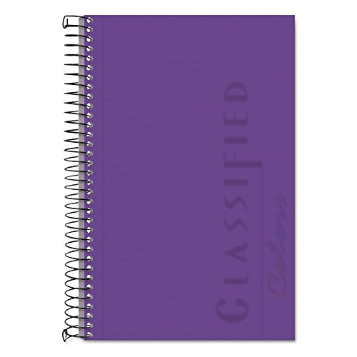 TOPS Classified Business Notebook, Wirebound, 5.5 x 8.5-Inch, narrow Rule, Orchid Paper, 100 Sheets per Book, Orchid Plastic Cover (99712)