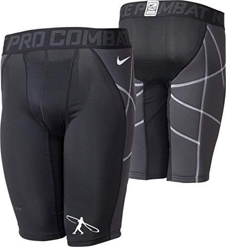 (Nike Boys Pro Hyperstrong Swingman Heist Slider-Compression Baseball Shorts (Large))