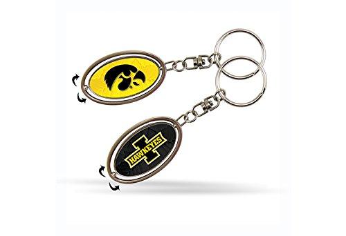 Rico NCAA Iowa Hawkeyes Spinner Keychain - Iowa Key Hawkeyes Ring Ncaa