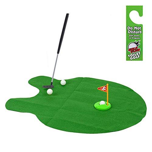 Toilet Bathroom Mini Golf Potty Putter Game Toy - 9