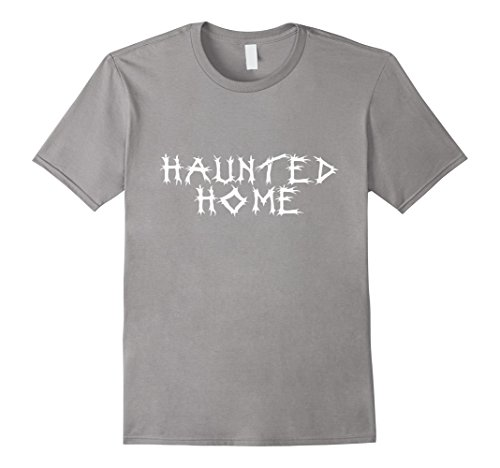 Mens HAUNTED HOME - Fake Metal T-Shirt for Halloween 2XL (Glam Metal Halloween Costume)