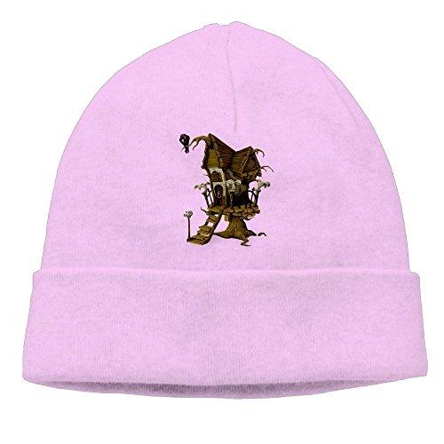 Carter Hill Halloween House Unisex Cool Hedging Hat Wool Beanies Cap Pink -