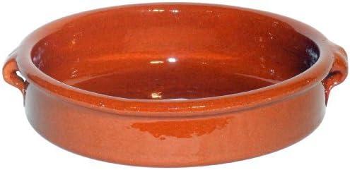 Amazing Cookware Fuente Redonda de 17 cm, una Maravillosa Pieza de Cocina de Terracota Natural: Amazon.es: Hogar