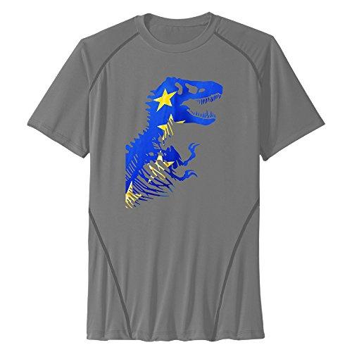 Men's Jurassic Park World EU Rex Sport Quick Dry Short Sleeves T-Shirt DeepHeather US Size XXL