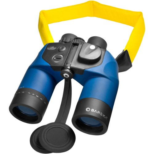 Barska Deep Sea 7x50 Waterproof Marine Binoculars with Internal Rangefinder & Compass