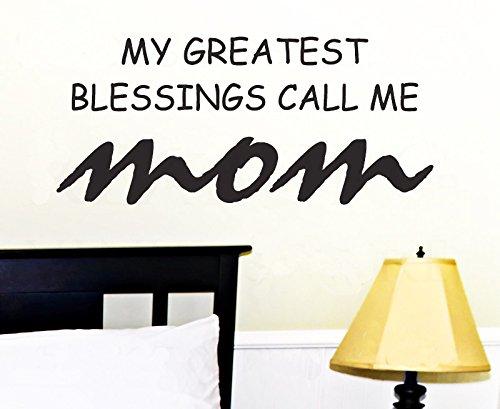 Dailinming PVC Wall Stickers English poetry Blessings Mom desire baby bedroom children's room decorWallpaper91.4cm x40.6cm-Deep Blue
