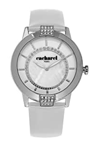 Cacharel Women`s White Dial Leather Band Watch [CLD 009S/BB]