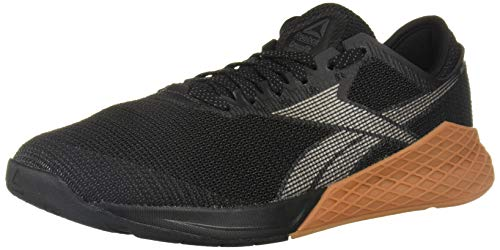 Reebok Men's Nano 9 Cross Trainer, Black/Grey, 11.5 M US
