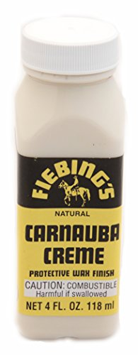 Fiebings Carnauba Crème Protective Wax Finish Cream For Smooth Leather 4 (Cream Leather Finish)