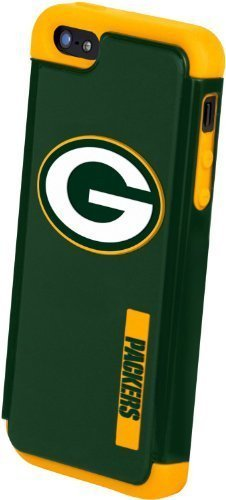 Forever Collectibles NFL Dual Hybrid TPU Compatible for iPhone 5/5S Rugged Case - Retail Packaging - Green - Green Bay Packers