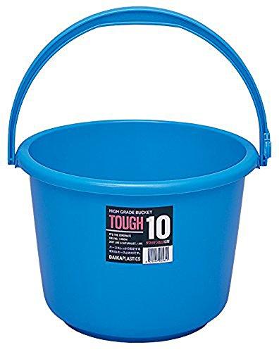 [해외]サンコ? 플라스틱 뉴 터프 물통 입 10L 블루 / Sanko plastic new tough bucket wide mouth 10l Blue