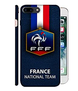 ColorKing Football France 21 Black shell case cover for Apple iphone 7 Plus