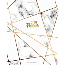 2019 Planner: Gold lines marble 2019 planner with weekly views, to-do lists, inspirational quotes and funny holidays. The perfect marble organizer with vision boards and much more.
