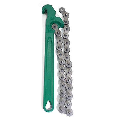 boeray 15 Inch Heavy-Duty Ratcheting Chain Wrench Oil Filter Tool Pipe Fittings Tools ()