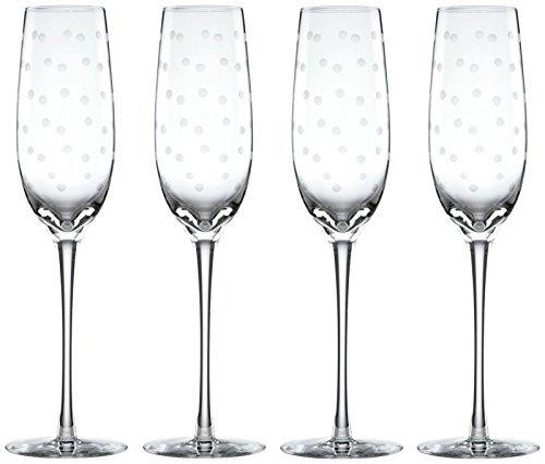 kate spade new york Larabee Dot Flutes, Set of - Glasses Dot