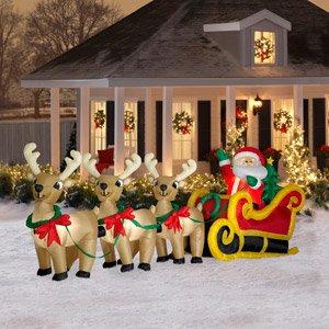 Amazon.com : CHRISTMAS DECORATION LAWN YARD INFLATABLE SANTA ...