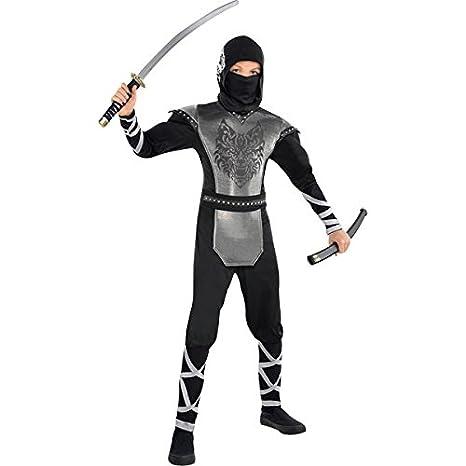 Aullidos lobo Ninja - niños y adolescentes traje: Amazon.es ...