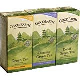 Good Earth Green Tea Variety -Lemongrass/Jasmine/Decaf Lemongrass 3 x 25 Tea Bags