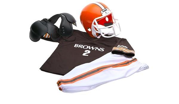 e5bda3e60 Amazon.com : Cleveland Browns Kids/Youth Football Helmet Uniform Set ...