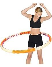 Jemimah Health Hoop II, Massage Hoop, Naranja/Crema, 107 cm // 96 perillas de Masaje, 1,7 kg