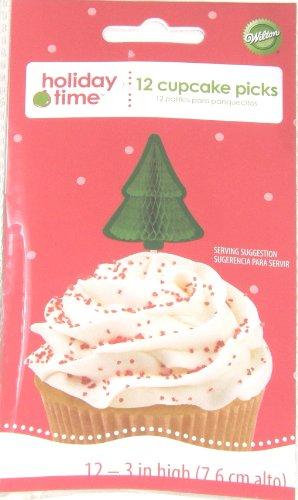 Wilton-Holiday-Time-Honeycomb-Christmas-Tree-Cupcake-Picks-Set-of-12