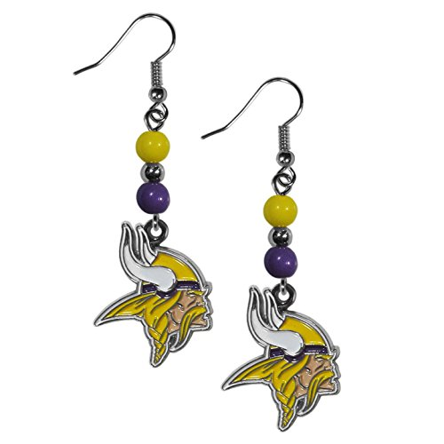 Gear Vikings Minnesota (NFL Minnesota Vikings Fan Bead Dangle Earrings)