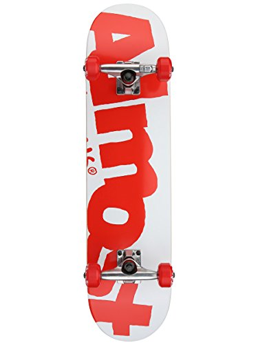 Almost Side Pipe FP Skateboard Complete,7.625FU,White/Red