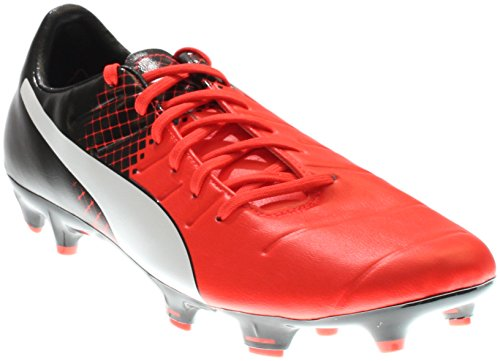 PUMA Men's Evopower 3.3 Tricks FG Soccer Shoe, Red Blast White Black, 9 M US (Shoes All Puma Red)