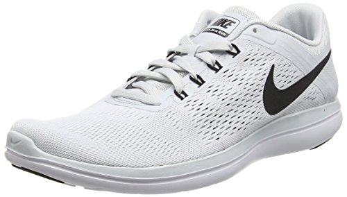 White Platinum Argent Homme Running Flex Run Pure Black Nike 7Hq8Zwn