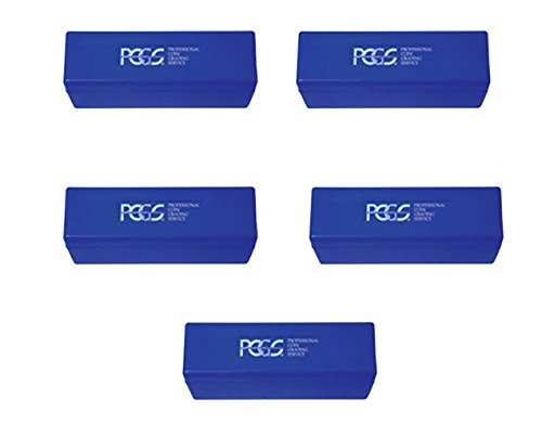 Lot of 5 PCGS Blue Storage Boxes Holds 20 Slab (Pcgs 20 Coin)