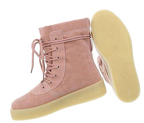 Damen Schuhe Freizeitschuhe Sneakers Altrosa