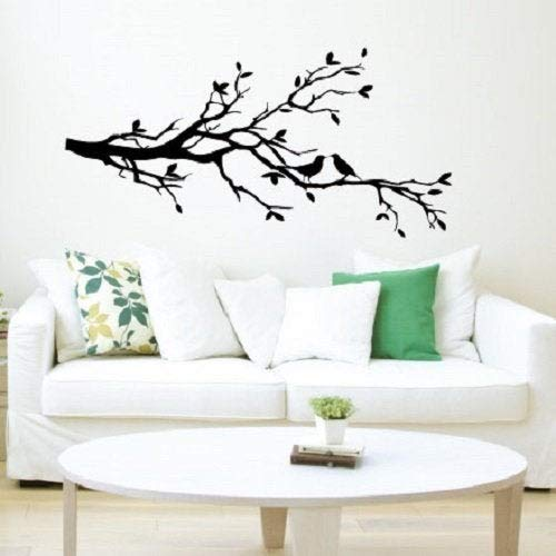 (BYRON HOYLE Wall Decal Birds Perched in a Tree Nature Inspired Home Decor for Living Room, Bedroom, Baby Nursery, Office)