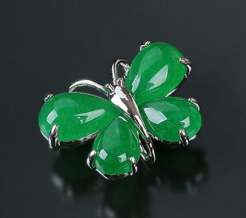 - Women Gifts Fashion Butterfly Shaped Shining Brooches Pins EMERALD