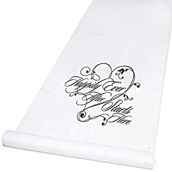 Hortense B. Hewitt Wedding Accessories Happily Ever After Aisle Runner