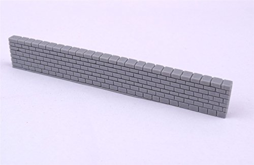 Brick Built Wall Sections Unpainted by WWS Pack of 6 - Dioramas, Layouts, Terrain