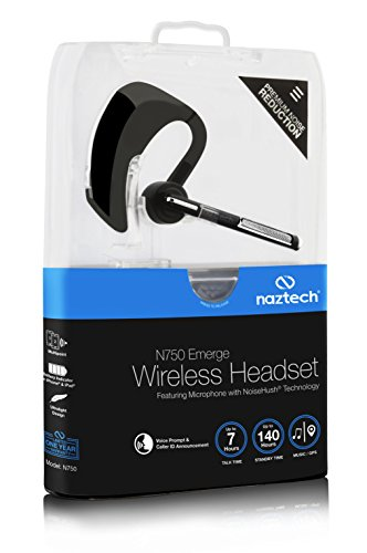 Naztech N750 Emerge Universal Wireless Bluetooth Headset Compatible with iPhone, iPad, Android and Smartphones