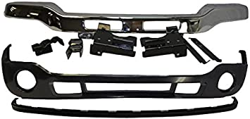 FOR 1997-2000 DAKOTA FRONT BUMPER UPPER BLACK LOWER VALANCE BRACKET W//O FOG HOLE