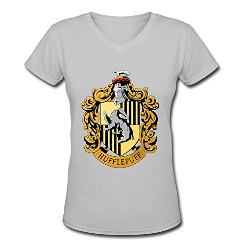 Cheap Harry Potter Robes (AOPO Harry Potter Hufflepuff Badger V-Neck Short Sleeve Tees For Women)