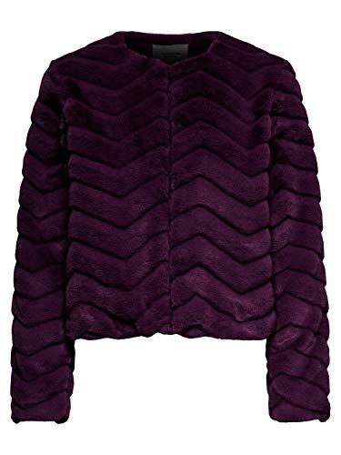 Mujer Fur Jacqueline Yong Qiq Pelo Chaqueta Jdyevan Rojo De Jacket Fake Otw Short qx4Xvwx