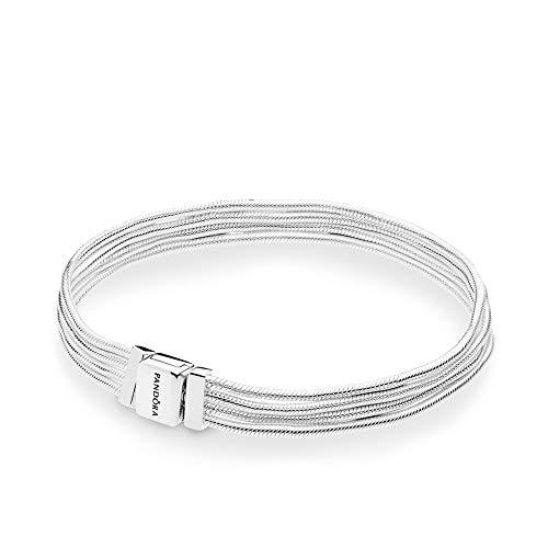 PANDORA Reflexions Multi Snake Chain 925 Sterling Silver Bracelet, Size: 16cm, 6.3 inches - 597943-16