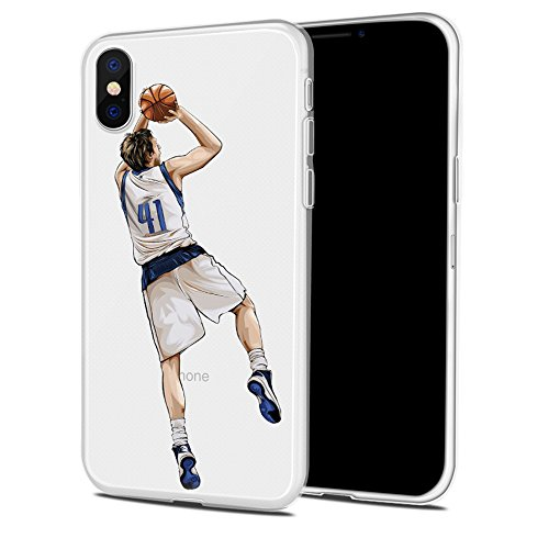 Price comparison product image iPhone 7 PLUS / iPhone 8 PLUS Basketball Silicone Protective Transparent Thin Case (20)