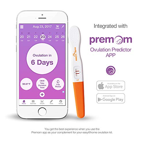 Easy@Home and 2 Pregnancy Test Sticks Midstream Tests - Ovulation Predictor Kit And Fertility Powered Predictor App, Free iOS and Android
