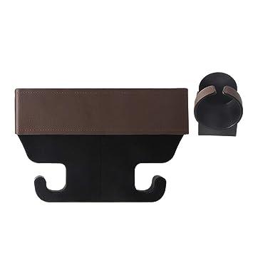 Vosarea Portavasos para Auto Organizador del Asiento Delantero Auto Consola del automóvil y Taza con Espacio para Asientos (marrón): Amazon.es: Hogar