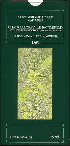 Chancellorsville Battlefield Map on