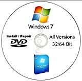 Software : Windows 7 - All edition in 1 DVD Drive 64 & 32 Bit Install/Upgrade/Repair Multi Bootable DVD With FREE TEXT MESSAGING INSTANT TECH SUPPORT