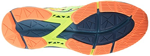 ASICS - Gel-noosa Tri 11, Zapatillas de Running hombre Multicolor (FLASH YELLOW / GREEN GECKO / OCEAN DEPTH)