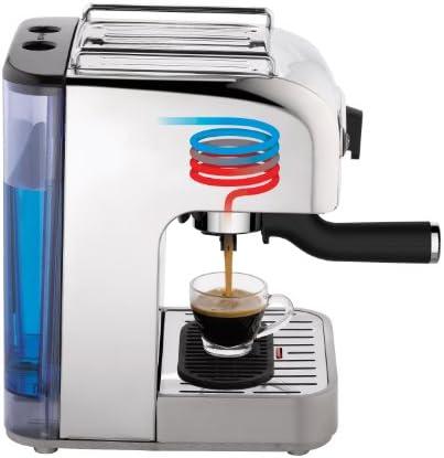 """Dualit 4-in-1 Multi-Brew Espresso Machine with Bonus NX Adapter, 12.2"""" x 9.3"""" x 10.2"""" in, Polished Chrome"""