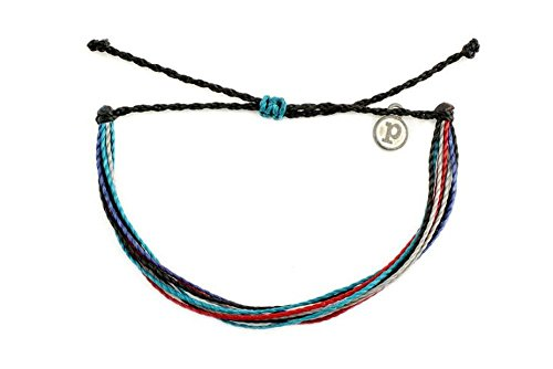 Pura Vida Tribal Tease Bracelet - Handcrafted with Iron-Coated Copper Charm - Wax-Coated, 100% Waterproof